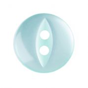 Fish Eye Button - Colour 035 Turquoise - Choose Size 11mm-19mm